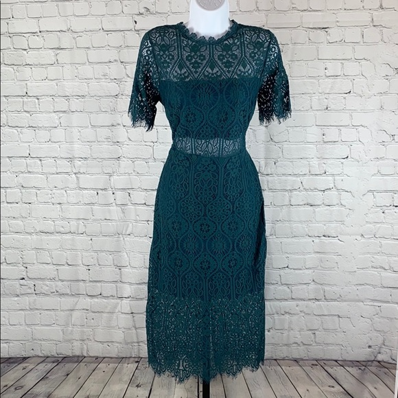 👗 VICI Women's Green Lace Cocktail Dress 👗